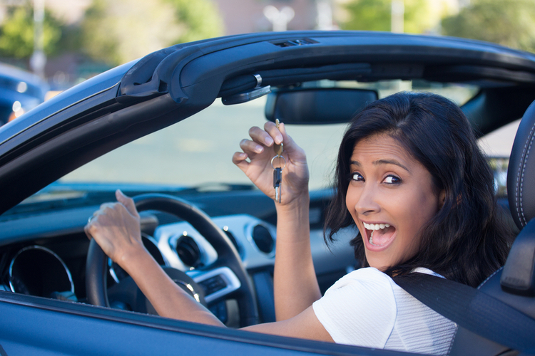 title loans near me own car financial relief happy woman in car